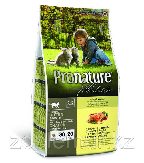 Pronature Holistic Kitten Growth - для котят, курица со сладким картофелем 5.44 кг.