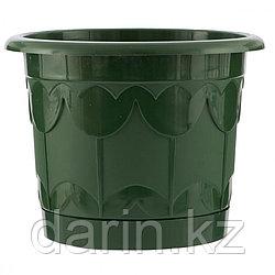 Горшок Тюльпан с поддоном, зеленый, 8,5 л Palisad