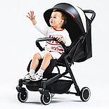 Детская прогулочная коляска Teknum 308, белая экокожа, фото 4