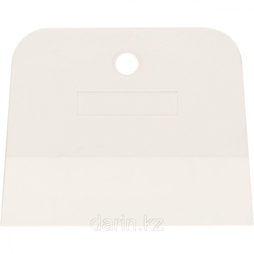 Шпатель, белая резина, 100 мм Россия Сибртех