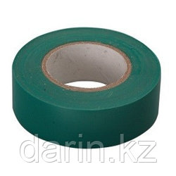 Изолента ПВХ, 15 мм х 10 м, зеленая Сибртех