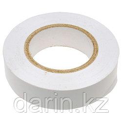 Изолента ПВХ, 15 мм х 10 м, белая Сибртех