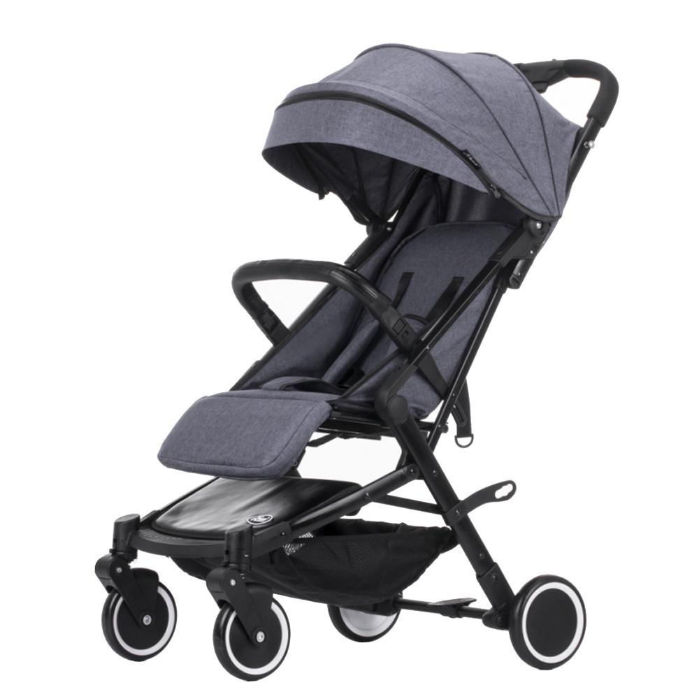 Детская прогулочная коляска Teknum 308 (лён), серый