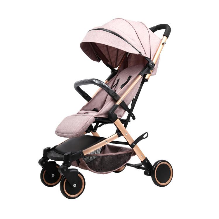 Детская прогулочная коляска Teknum 308 (лён), бежевый