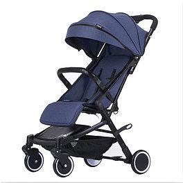 Детская прогулочная коляска Teknum 308 (лён), джинс