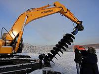 Ямобур,гидробур для экскаватора Hyundai R250,R260,R290,R300,R2900,R3000