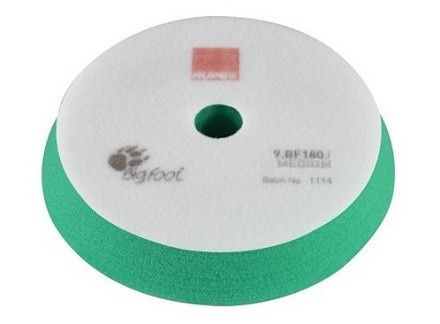 Поролоновый полировальный круг средней жесткости 150/180 мм зеленый