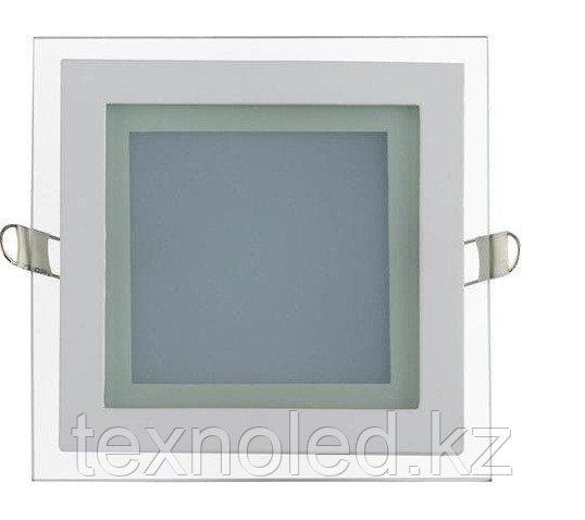 Потолочный светильник квадратный 12W со стклом
