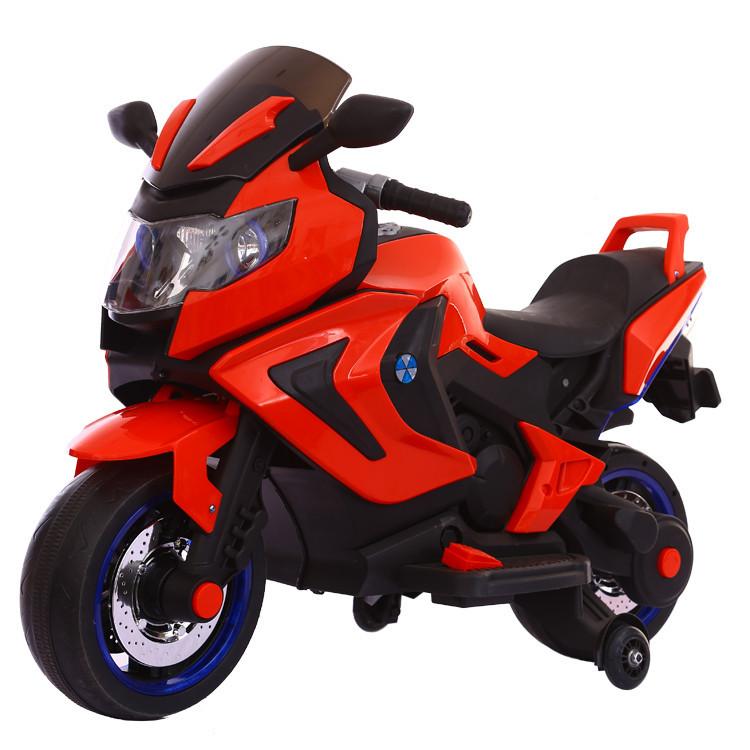 Электромотоцикл детский Kawasaki, красный
