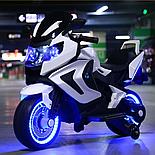 Электромотоцикл детский Kawasaki, красный, фото 4