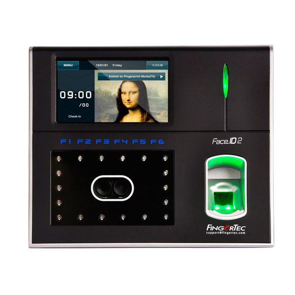 Биометрическая система с распознаванием по лицу и отпечатку пальца FingerTec Face ID 2