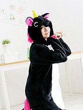 Пижама кигуруми Единорог чёрный