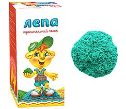 ЛЕПА Трогательный кинетический песок  Зеленого цвета 1кг