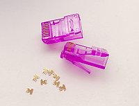 Коннектор RJ45 UTP Cat.5e 8P8C-PC-violet