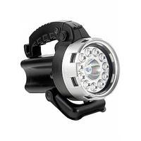 Фонарь аккумуляторный, галоген 25Вт + 11 LED Stern
