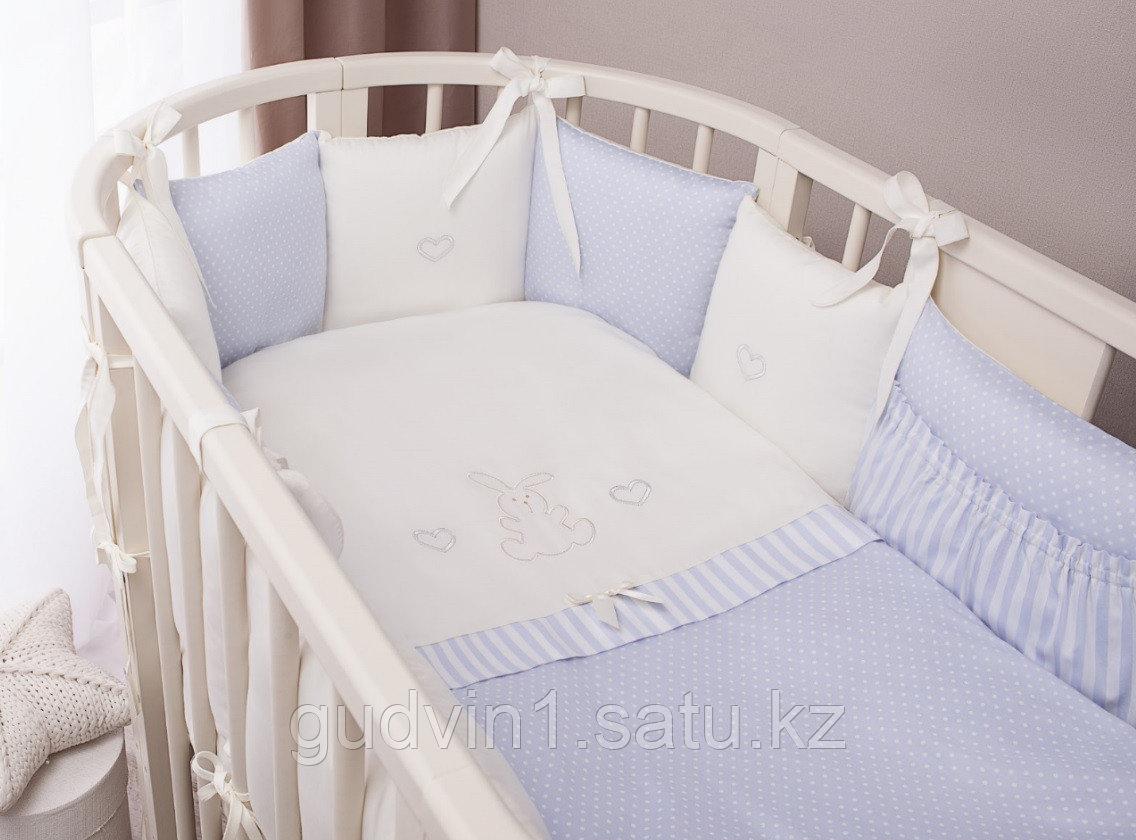 Комплект в кроватку Perina Неженка Oval 7 предметов НО7.4-125х75 Голубой