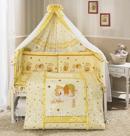 Комплект в кроватку Perina Ника Мишка на подушке Бежевый 4 предметов Н4-01.2