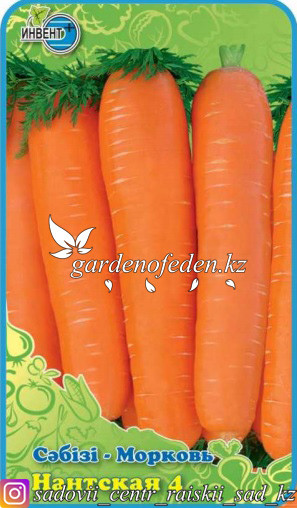 "Семена моркови ""Нантская 4""."