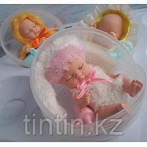 Спящий пупсик в шарике 11 см, фото 2