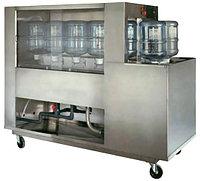 Полуавтоматическое оборудование для Мойки оборотных 10 - 25 литровых бутылей (300 бут/час)