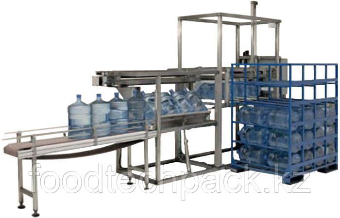 Автоматическая система для укладки готовых бутылей в стойки