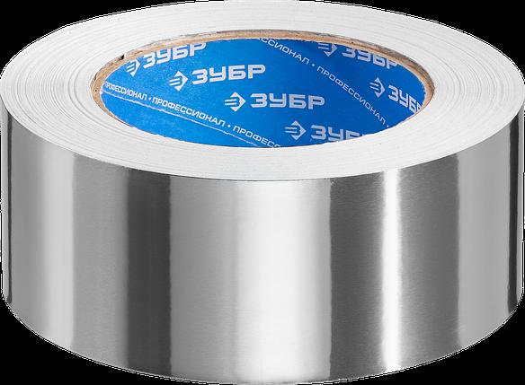 Алюминиевая лента, ЗУБР Профессионал 12262-75-50, до 120 °С, 60мкм, 75мм х 50м, фото 2