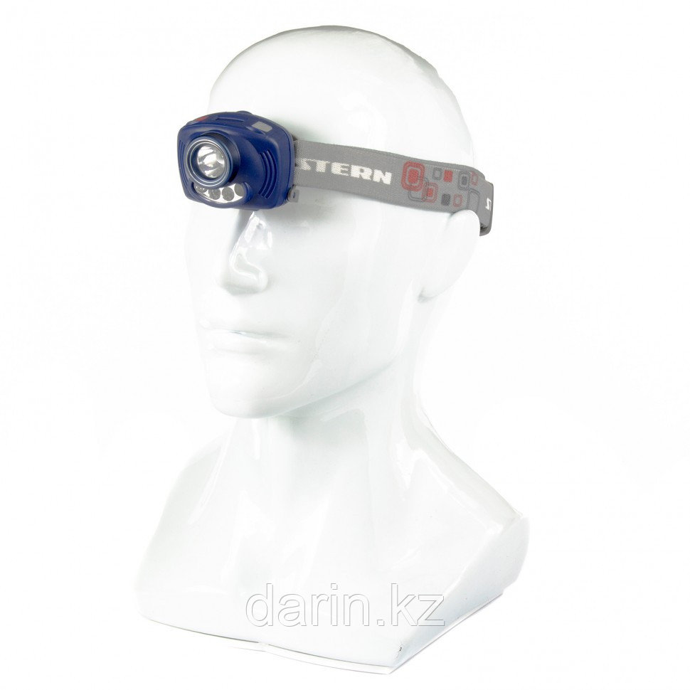 Фонарь наголовный Extreme, ABS, 3 режим, ИК сенсор, CREE XP-E Led 3Вт 120Лм + 2 reD, 8 ч, 3 х ААА Stern