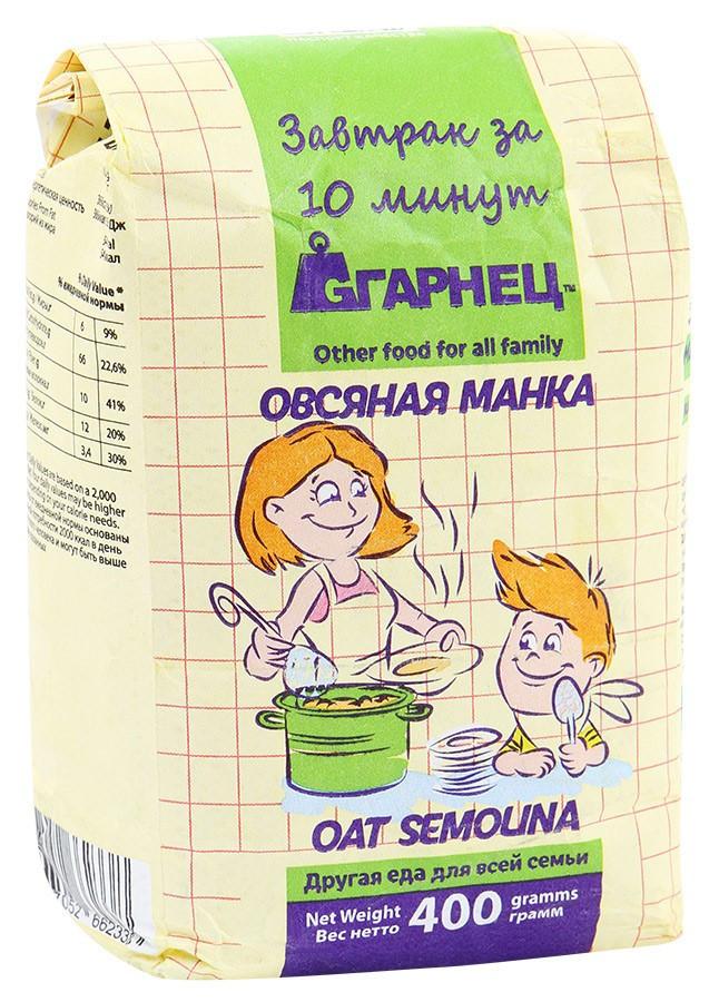 """КРУПКА ОВСЯНАЯ """"ОВСЯНАЯ МАНКА"""" ГАРНЕЦ, 400 гр"""