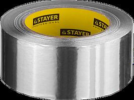 Лента клейкая алюминиевая, 50мкм, 50мм х 25м, STAYER Professional