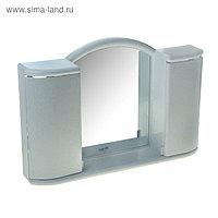 Шкафчик зеркальный для ванной комнаты «Арго», цвет белый мрамор