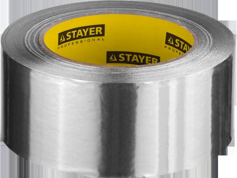 Лента клейкая алюминиевая, 50мкм, 50мм х 10м, STAYER Professional