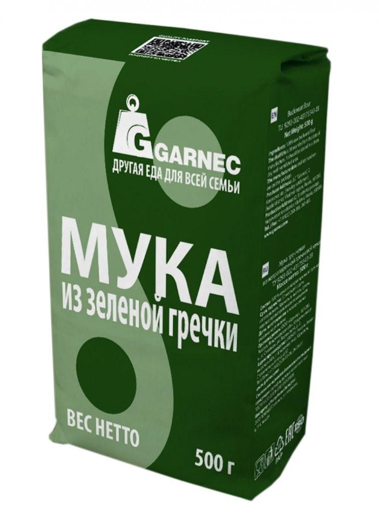 Мука Гарнец из зеленой гречки, 500 гр