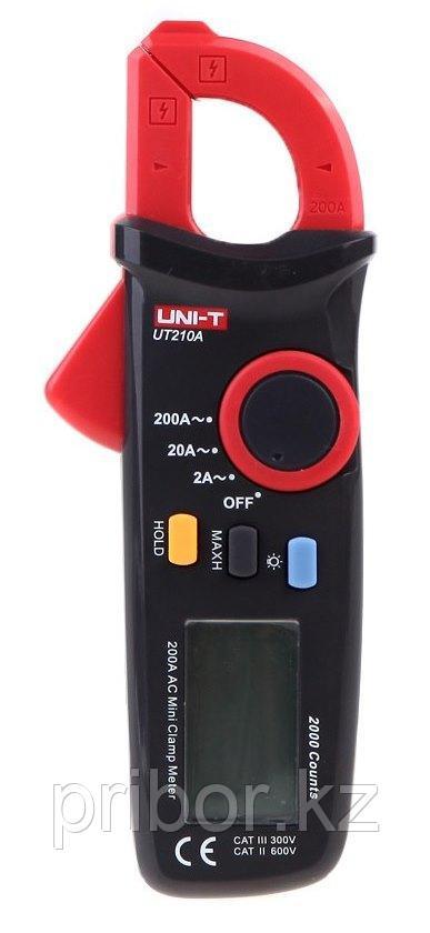 Токоизмерительные клещи миниатюрные до 200А (AC) UT210A. Внесены в реестр СИ РК