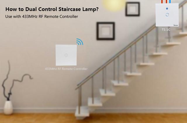 управление светом из двух мест для коридоров и лестниц