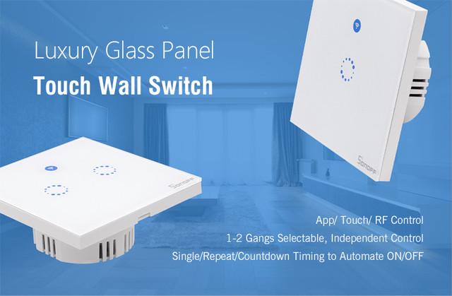 Sonoff T1 настенный выключатель с управлением по WiFi и радио 433