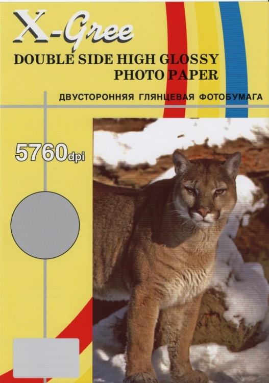Фотобумага X-GREE A4/50/130г Глянцевая Двухсторонняя 5H130DG-А4-50 (10)