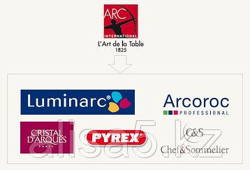 Бренды Luminarc, Cristal d'Arques, Pyrex, Arcoroc, Chef & Sommelier.
