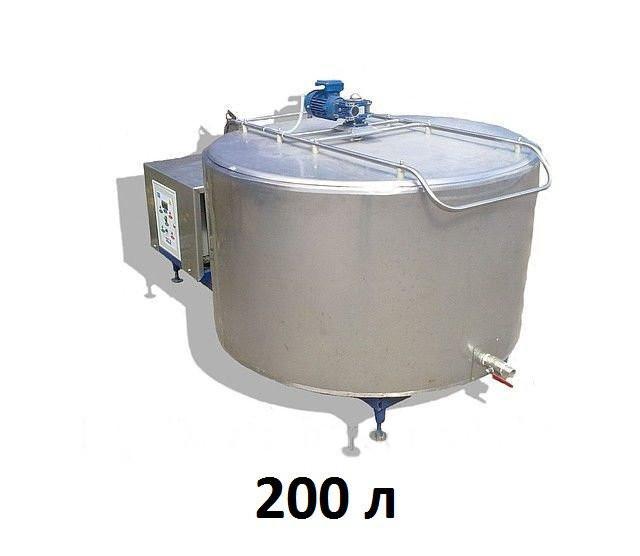 Охладитель молока открытого типа 200 л