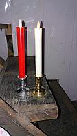 Светодиодные свечи с кандилябром  ( Эффект живого огня ) 2 шт в комплекте