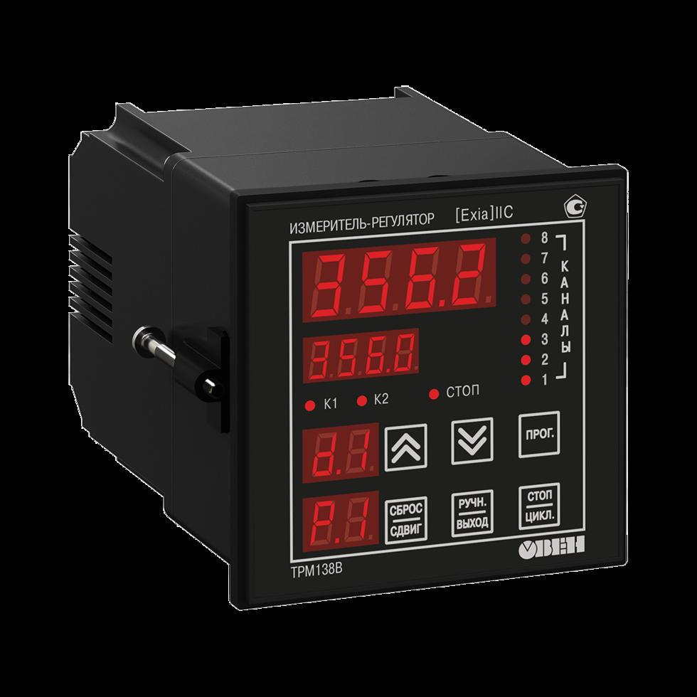 Измеритель-регулятор 8-канальный со встроенным барьером искрозащиты ТРМ138В