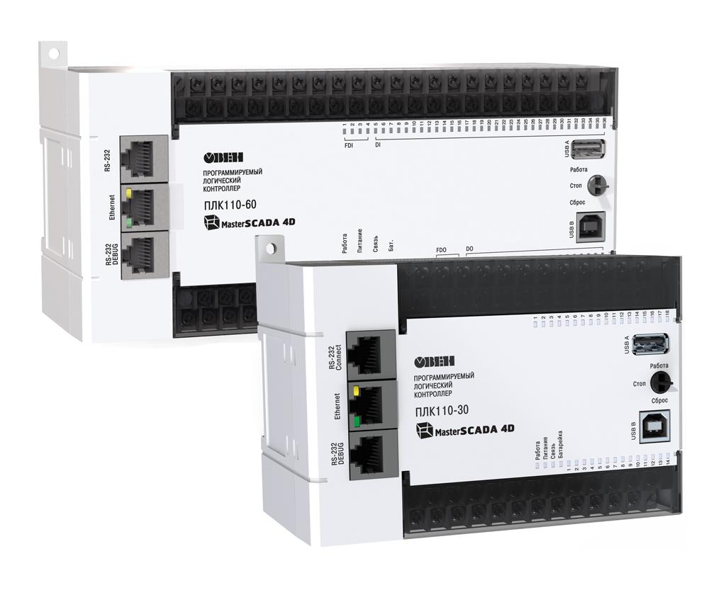 Контроллер программируемый логический ПЛК110 [М02] с исполнительной средой MasterSCADA 4D
