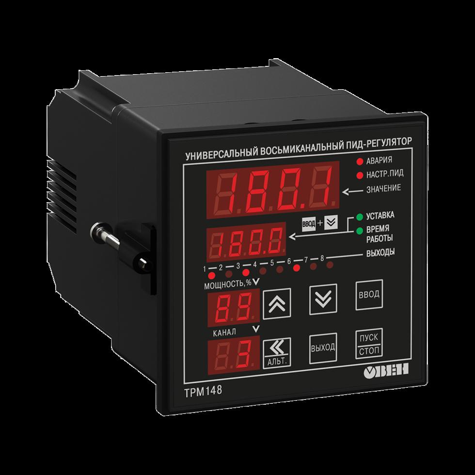ПИД-регулятор универсальный  8-канальный ТРМ148