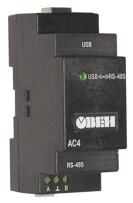 Преобразователь интерфейсов автоматический USB/RS-485 ОВЕН АС4