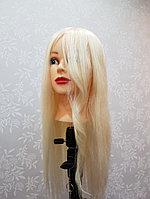 Учебная голова манекен с белым волосом