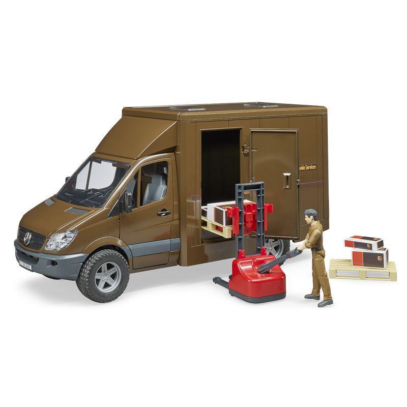 Bruder Mercedes-Benz Sprinter фургон UPS с фигуркой, погрузчиком и аксессуарами