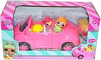 Немного помятая!!! LOL-G8 LOL Surprise picniccar ЛОЛ розовая машина 3 куклы и корзина пикник 33*18см