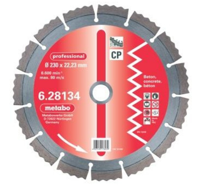 Алмазный круг professional, 115мм, бетон, сегментир.