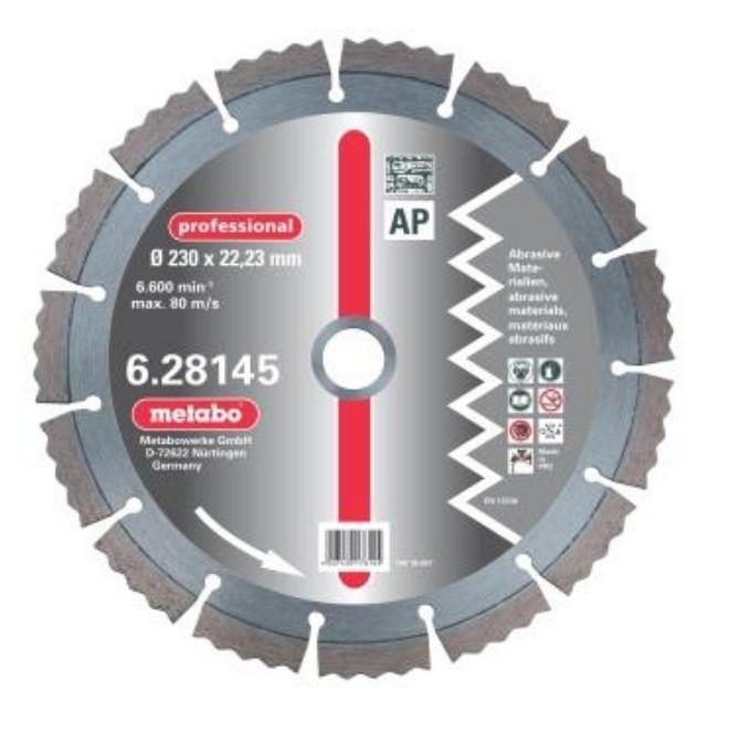 Алмазный круг professional, 125мм, абраз.м, сегментир.