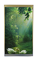 """Инфракрасный электрообогреватель-картина """"Лебеди"""", 500 ват, 105*59 см"""