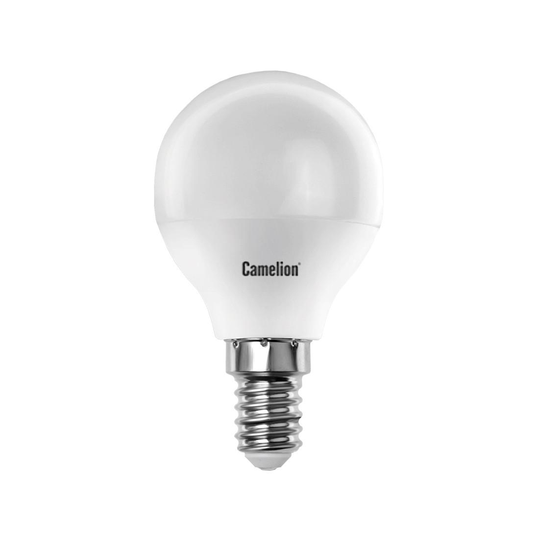 Эл. лампа светодиодная Camelion G45/3000К/E14/7Вт, Тёплый